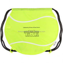 Cute tennis ball 420d drawstring bag BDS02