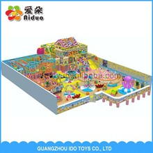 Indoor playground with kids inflatable trampolines kids ball pool palyground rubber tiles