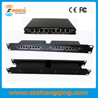 24V 48V 10/100M POE Passive Switch ZQ-POES-8-7 With 7 POE Ports Passive PoE For VOIP phones, IP Cameras, WiFi Access Points