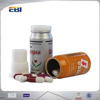 Flip top aluminum pill bottle