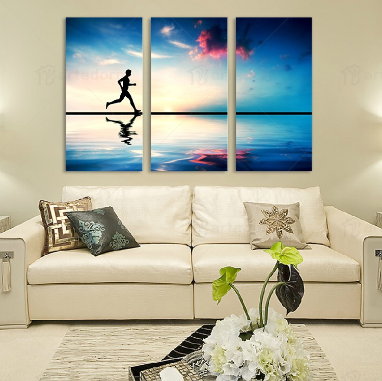 Hot Sale Home Decor 3 Piece European Wall Picture For