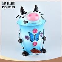High quality handmade animal shaped metal garbage waste bin