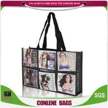 photos printing pp shopping bag,pp woven shopping bag