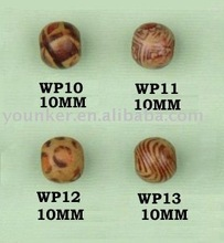 Wholesale Flower Printed Wooden Beads