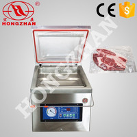price for small hongzhan DZ300 stianless steel vegetables fruit meat food food saver vacuum sealer