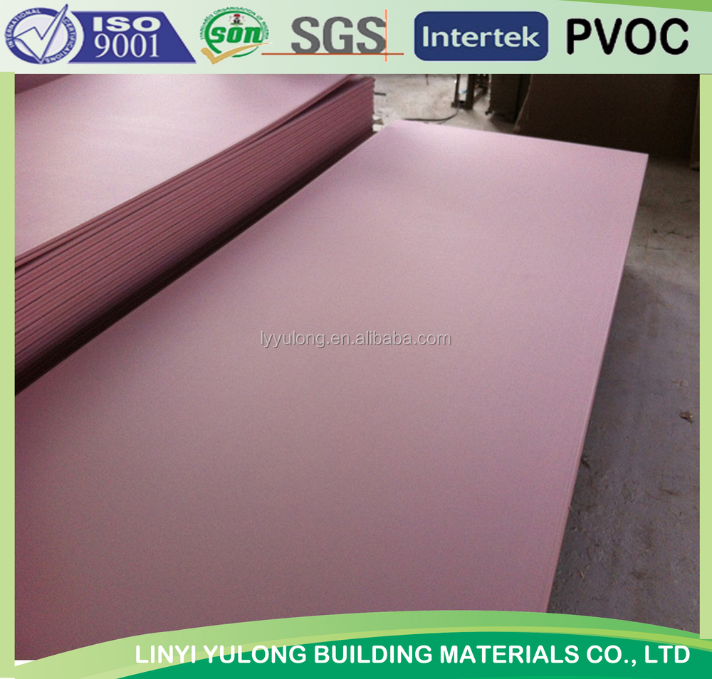 Moisture Resistant Gyp Board : Moisture resistant gypsum board for ceiling and partition