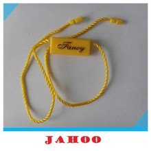 Fashional good quality plastic seal tag with logo string seal