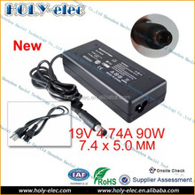 Laptop Charger For HP AC Adapter 8440 8460 6460B 2560 6550B 6540B AC DC 19V 4.74A 90W 7.4 x 5.0 mm