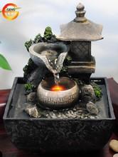 tabletop water fountain indoor zen relaxation waterfall tranquil spring garden