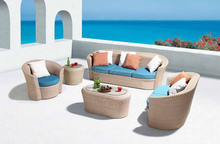 C044-D Fresh color Sofa/Rattan Outdoor Furniture/Beige woven rattan design