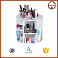China Plastic 360 Degree Rotating Makeup Storage Desktop Organizer