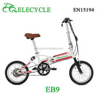 16 inch chopper stealth 36V250W brushless motor folded electric bike malaysia imported from china