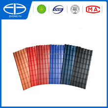 Plastic PVC roof tile ASA&PVC spanish roofing tile long lifetime