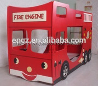 Colorful red car bunk bed for children ,kids furniture cheap bunk beds