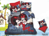 trade assurance mickey minnie mous/brand bed sheets/wholesale polyester fabric