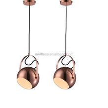 lustre copper modern chandelier decorative pendant lamps