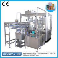 Automatic stand-up pouch filling machine/suck jelly pouch packing machine/spout pouch fill machine