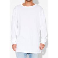 Men's long sleeve plain dyed white t-shirts manufacturer cheap bulk white t-shirts for boys