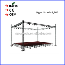 hot sale aluminum truss for wedding decoration/big event/shows cheap portable stage truss
