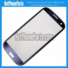 Glass touch screen for samsung s3 i9300, blue and white color, for i9300 touch screen