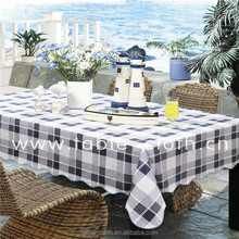 Round Plastic PVC Table Cover With Nonwoven Backing