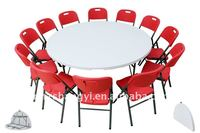6ft modern folding round restaurant table and chairs