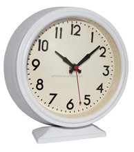 Fashionable bedroom or mantel quartz desk clock with CE and Rohs approval