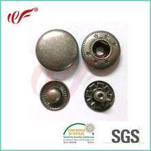 24L anti silver metal snap button for jacket,Common style