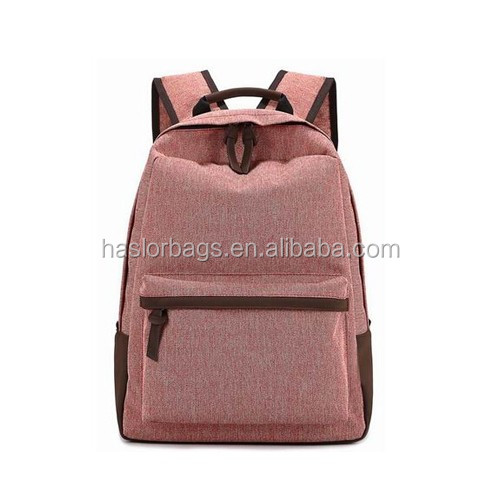 2016 vintage classic fashion color blank canvas backpack