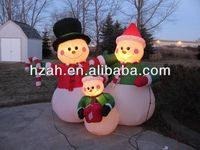 Christmas Decoration Inflatable Snowman Family