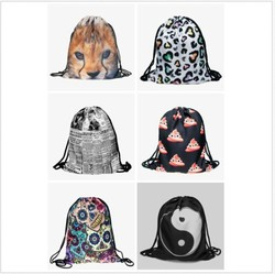 Wholesale 2016 New Fashion Foldable Santa Sack Drawstring Bag