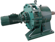 China supplier Guomao cycloidal universal gearbox reduction with electric motor for conveyor