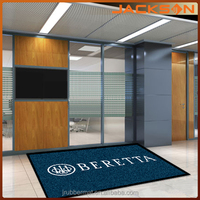 rubber back anti-slip logo area rug