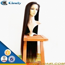 Wholesale 100% virgin long black human hair full lace wig brazilian remy with bangs