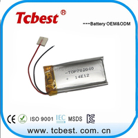High energy conversion rechargeable 3.7v 500mah lithium polymer battery prices for MP3 MP4