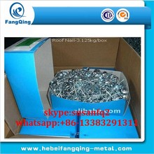 Wire roofing nail hot dipped galvanized steel