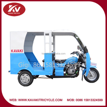 Wholesale new design fashion blue passenger tricycles taxi for sale with cabin and door