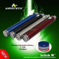 2015 Airistech Iclick W Battery 1600mah ego/510 thread use for dry herb or wax vaporizer pen