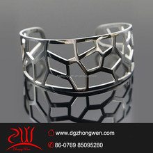 handmade jewelry trends 2015 custom stainless steel cut-out plain cuff bangle