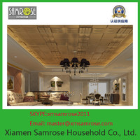 2015 hot sale china enviromental European modern fireProof PU leather acoustic ceiling