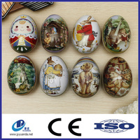 Metal Christmas gift box easter egg shape tin box candy cookie can