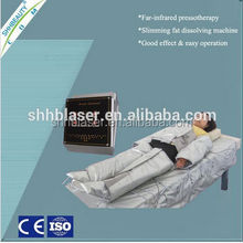 Factory sell! portable pressotherapy/EMS/far infrared air pressure leg massage detoxification slimming machine