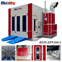 china supplier bluesky automobile spray booth/baking oven/paint mixing machine