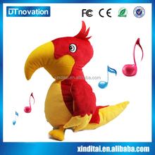 intelligent talking love birds stuffed, plush parrot toys