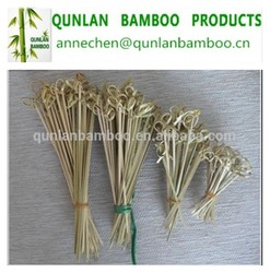 Eco-friendly disposable bamboo food/fruit knotted flower stick/bamboo skewer