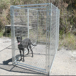 Professional factory direct sale easily assembled dog kennel/galvanized dog kennel