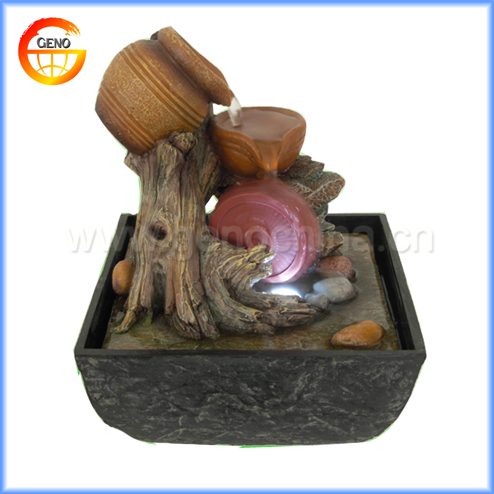 wholesale indoor owl fountain home decor water flowing