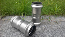 DN12 stainless steel coupling for pvc pipe