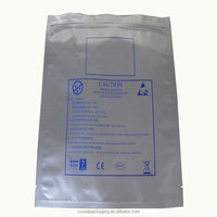 resealable custom printed plastic small aluminum foil zip lock bag/plain foil zip lock bag phone case packaging bag