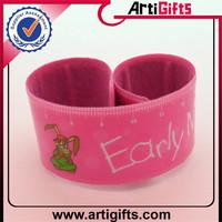 Wholesale reflector bands slap bracelet